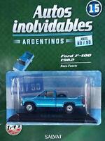 FORD F-100 (1982) 80/90s Unforgettable Cars 1:43 Diecast SALVAT ARGENTINA