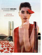 PUBLICITE ADVERTISING 056  2015  Kenzo  parfum l'elixir femme Flower by