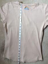 Papaya Latte Coffee Cotton T-Shirt cap/short sleeved Top Size 10