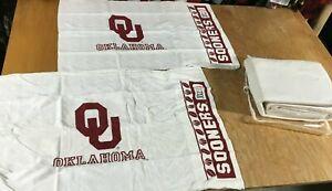 OU Oklahoma Sooners Bedding SHEET PILLOWCASE SET Full/Twin Size dorm Bed Skirt