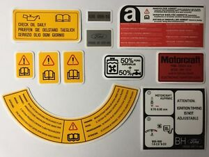 Ford Sierra Sapphire RS Cosworth 2wd Engine Bay Decals 88 - 90 Later