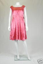 Moschino Cheap & Chic Vestido de satén rosa (UK 14)