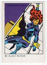 1980 Spanish Marvel Comics Superhero Terrabusi Trade Card - #91 - Black Widow