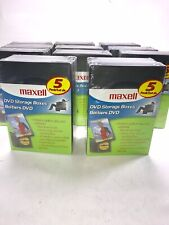 Maxell DVD  Storage Cases. 11 Packs Of 5. Brand New. Factory sealed.