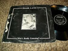 "Mark Lane ""Who's Really Listening"" Original 1984 Synth LP Idiosyncratics!"