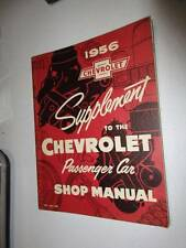 1956 Chevrolet Passenger Car Shop Manual Supplement