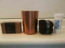 BN Mens Ted Baker Set - Bucket/Tin Cleansing Soap Bar, Face Wash + Flannel
