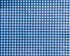 "100 YDS BULK ROLL VINYL TABLECLOTH, GINGHAM CHECK BLUE 54"" W"