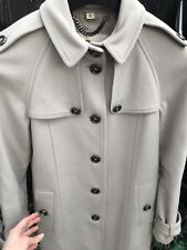 Burberry Wool Cashmere Trench Coat Beige / Grey