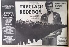 RUDE BOY - RARE PRESS ADVERT FOR THE CLASH PUNK MOVIE FROM RECORD MIRROR 15/3/80