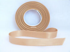 3mm X 50m Eleganza Red Double Side Satin Ribbon Wedding Favour Crafts Gold
