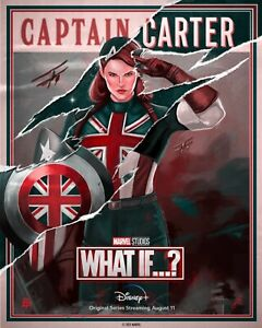 What If…? NEW TV animated Series CPT Carter DECAL Poster Comic Spider Zombies