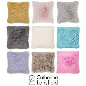 """Catherine Lansfield Cuddly Cushion Cover Fluffy Shaggy Cushions Covers 18"""" x 18"""""""