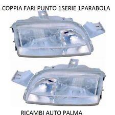 COPPIA FARI FANALI ANTERIORE DX-SX FIAT PUNTO 1SERIE DAL 1993 AL 1999 1 PARABOLA