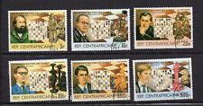 maîtres des échecs  REPUBLIQUE CENTRAFRICAINE 1983 6 timbres oblitérés /T4118