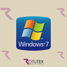 1  x WINDOWS 7 FOR PC LAPTOP HD QUALITY STICKER LOGO DECAL BADGE ADHESIVO