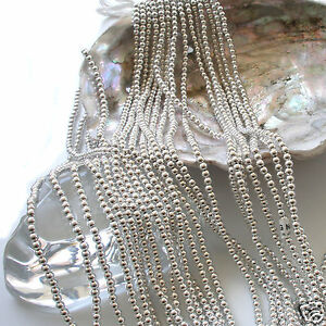 Japanese Silver Faux/Plastic Pearls Round Beads Strands 2,3,4,5,6,8,10,12mm