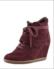 Ash Bowie Bordeaux Suede Wedge Sneaker Size 37 (B, M)