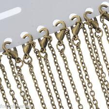 12PCS Chaînes Forçat Maille Bronze 45.6cm