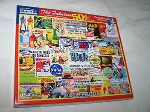 White Mountain 1000 Piece Puzzle ~ The Fabulous 50's ~ Assembled Once