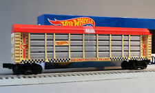 LIONEL HOT WHEELS 50th ANNIVERSARY AUTO RACK O GAUGE train car 6-84705 NEW