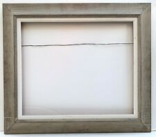 "1950s Modern WORMY CHESTNUT 20"" x 24"" PICTURE FRAME Heydenryk Style #2 of 2"
