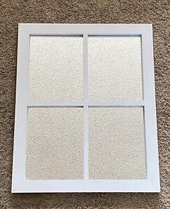 """Farmhouse Window Pane Mirror (18.5"""" x 22.5"""") - Stanley Brand Whitewash"""