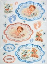 Carta di riso per Decoupage Decopatch Scrapbook Craft sheet Hello Baby