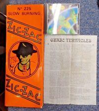 Ozric Tentacles Strangeitude Promo Rolling Papers Box Zic-Zac- Very Rare Zig-Zag