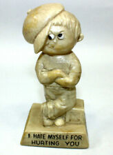 """1971 W & R Berries Co. """"I Hate Myself For Hurting You"""" Figurine #718 Vintage"""
