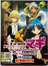 MAGI THE LABRYINTH OF MAGIC KINGDOM OF MAGIC ANIME 2-DVD SEASON 2 1-25 NEW