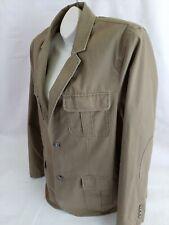 LL Bean Cargo Field Cotton Jacket Size 42 Reg Tan Khaki lightweight elbow patch