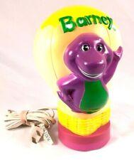 BARNEY DINOSAUR VINTAGE KIDS BEDROOM 8INCH TALL HOT AIR BALLOON NIGHT LIGHT LAMP
