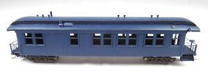 HOn3 Brass Painted Passenger Coach Car Navy Blue Narrow Gauge