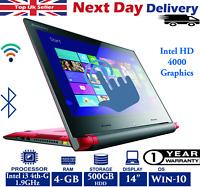 Lenovo Flex 2-14D 14-Inch Touchscreen Laptop Intel i3 4th-Gen 4GB RAM 500GB HDD