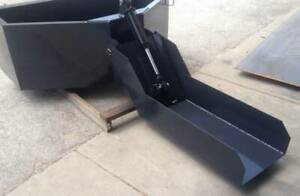 SKID STEER 1 YARD CONCRETE BUCKET - HOPPER -  CEMENT BUCKET WITH 3' CHUTE
