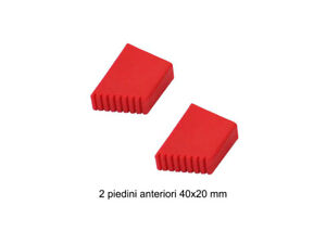 Kasart 2 piedini anteriore mm 40x20 in plastica per scala domestica Kasart piedi