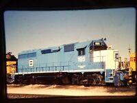 ZD04 TRAIN SLIDE Railroad Short Line EMD GP-40 195 Kansas City KS 1990
