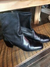 Vintage leather chunk heel boots Prevata made in Italy 9.5 1980s