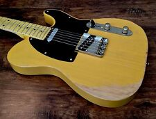 NEW VINTAGE V52MRBS ICON SERIES DISTRESSED BUTTERSCOTCH SIGNATURE TELE GUITAR