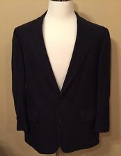 Brooks Brothers Navy Two Button Sport Coat Size 44 Regular