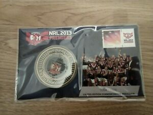 RARE 2013 NRL Medallion Cover Limited Edition FDC PNC