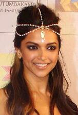 Crystal Rhinestone tiara Forehead Hair Head Chain headdress Headpiece Headband
