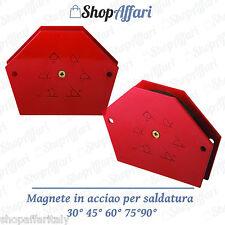 SQUADRA MAGNETICA MAGNETE PER SALDATURA SALDATRICE 30 ° 45 ° 60 ° 75 °PROFESSION