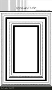 Simple and BasicTelegramme w/inlay A5 Dies 6 Stanzschablonen Rahmen Rechtecke