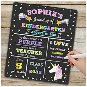 First Day of School Board - First Day of School Sign - Unicorn Themed 1st
