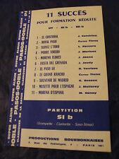 Partition 11 Successo per Formation ridotto Sib Paso Doble 1964