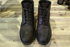 Loake 1880 Bedale Brown Country Brogue Boots Shoes UK Size 7.5F