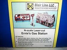 Blair Line N Scale Ernie's Gas Station Laser Cut Kit #081 Bob The Train Guy