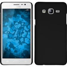 Funda Rígida Samsung Galaxy On5 - goma negro + protector de pantalla